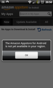 Amazon App Store not available in the UK download